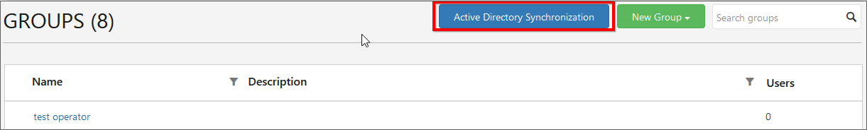 Active Directory Synchronization Link